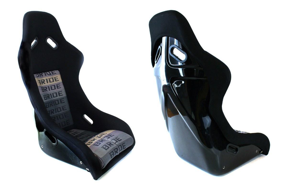 Fotel sportowy EVO Welur Bride Black Grey typ2 - GRUBYGARAGE - Sklep Tuningowy